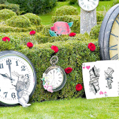 Décors fête So Alice - Lot de 8