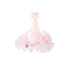 Chapeaux de fête rose et paillettes - Lot de 3