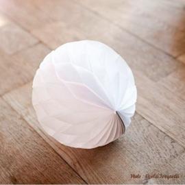 Boules papier alvéolé blanches 6 cm - Lot de 10