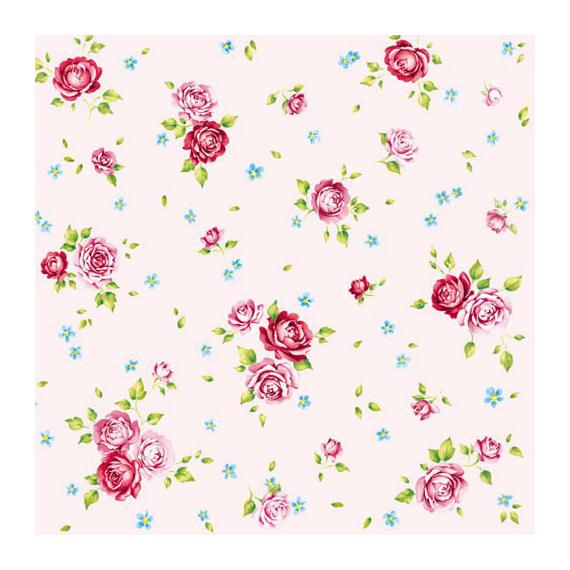Serviettes papier rosalie rose - Lot de 20