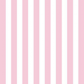 Serviettes papier rayures roses - Lot de 20