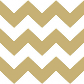 Serviettes papier larges chevrons or - Lot de 20