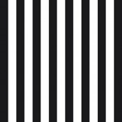 Serviettes papier larges rayures noires - Lot de 20
