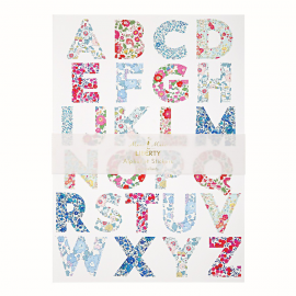 Stickers grand alphabet liberty -10 feuilles
