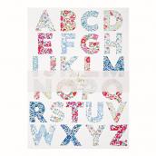 Stickers grand alphabet liberty -10 feuilles