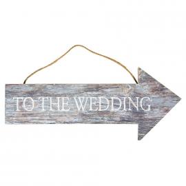 Pancarte bois mariage rustique chic