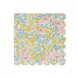 Serviettes gâteaux poppy liberty - Lot de 20