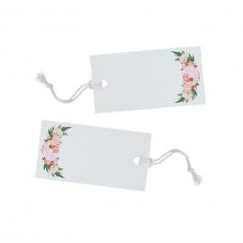 Etiquettes marque-places floral bohème - Lot 10