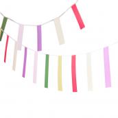Guirlande de fanions rectangles colors