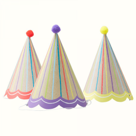 Chapeaux de fête kraft color - Lot de 6