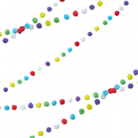 Guirlande pompons mix colors