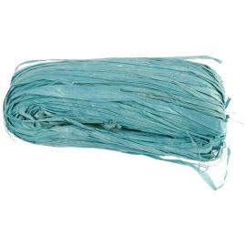 Raphia naturel turquoise - Pelote 50 g.