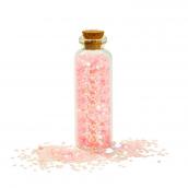Fiole paillettes magiques roses