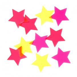Etoiles confettis néon