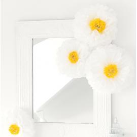 Fleurs marguerites papier - Lot de 3