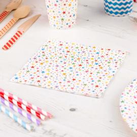 Serviettes papier multi étoiles