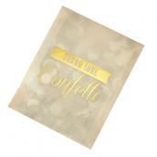 Sachets confettis glam or et cream - Lot 10