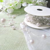 Guirlande de perles blanches - 5 mètres