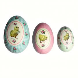 Oeuf de Pâques vintage - Set de 3