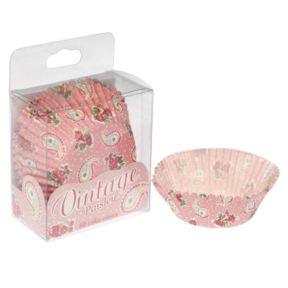 Caissettes cupcake rose vintage