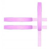Fin Ruban organdi rose - 7mm