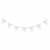 Guirlande blanches de fanions coeur - 3 mètres
