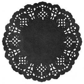Grands napperons dentelle papier noir