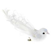 Duo oiseau blanc de rêve sur pince - Boite de 2