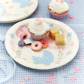 Assiettes pastel décors Bébé