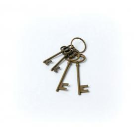 Trousseau 4 clés vintage