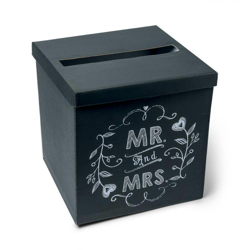 Accessoire Mariage Urne Style Vintage Ardoise Mr Mrs