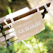 Décorations chaises mariage vintage