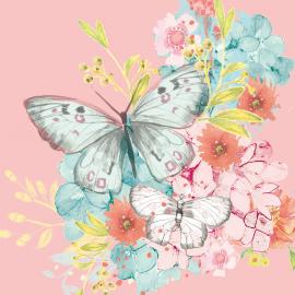 Serviettes papier jolis papillons