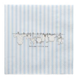 Serviettes papier rayures welcome garçon
