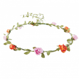 Bandeau couronne fleurs bohème