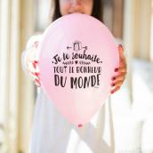 Ballons messages anniversaires