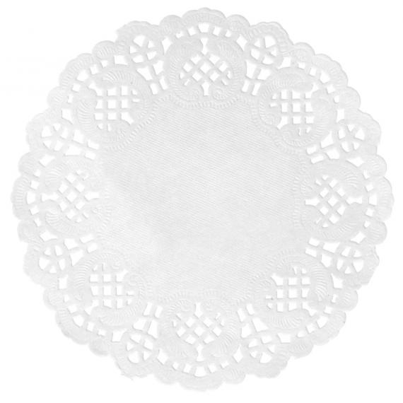 Napperons dentelle papier blanc