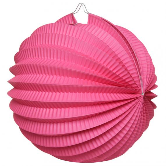 Lanterne accordéon rose