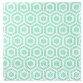Serviettes papier graphic menthe