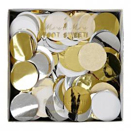 Confettis métallique or et argent