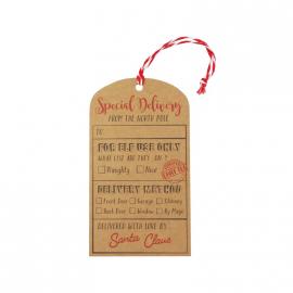 Etiquettes cadeaux vintage noël