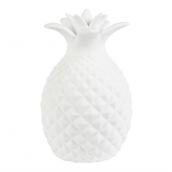 Veilleuse ananas porcelaine blanche