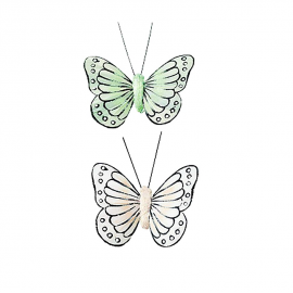 Papillons duo pastel