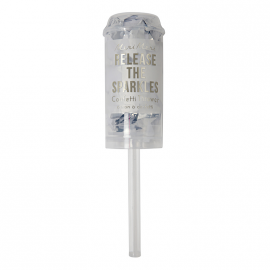 Mini canon confettis argent