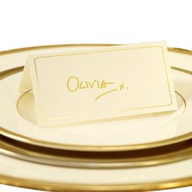 Marque-places chevalet chic ivoire et or