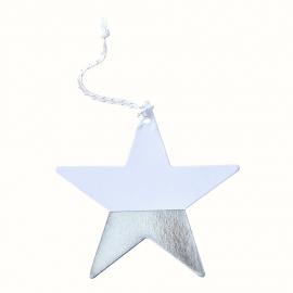 Etiquettes étoiles graphic argent