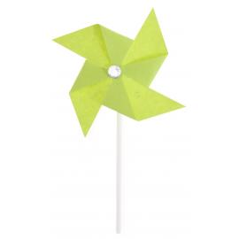 Mini moulin à vent vert