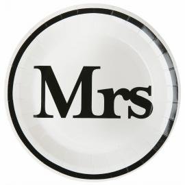 Assiettes carton Mrs
