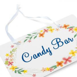 """Pancarte """"Candy Bar"""" fleurs bucoliques"""