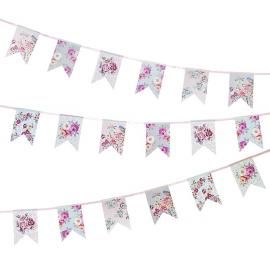 Guirlande fanions floral romance
